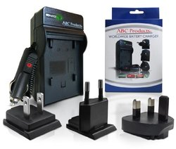 ABC Products Battery Charger for Samsung SLB-10A / SLB10A suits Select Digimax Digital Camera / Samsung Camcorder (Models Stated Below) World Travel Plug Version - USA/UK/Europe+