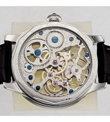 Rougois Skeleton Mechanical Watch with Crystal Embellished Bezel