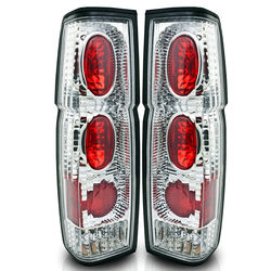 86-97 Nissan Hardbody Altezza Tail Light - Chrome / Clear R007-C Pair