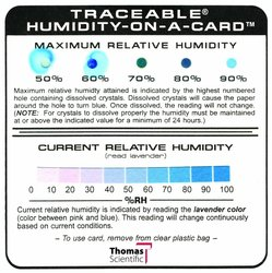 "Thomas Traceable Humidity on A Card - 4"" Length x 4"" Width"