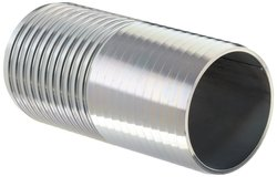 """Dixon Zinc Plated Steel Shank Water Fitting - 4"""" Hose ID Barbed"""