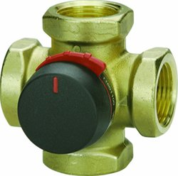 Viega ProRadiant Four Way Mixing Valve with Female 1-1/4-Inch Female NPT