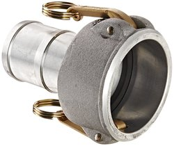 "PT Coupling Aluminum Reducer Cam and Groove Hose Fitting - 2-1/2"" x 2"""
