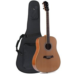 """ADM 41"""" Premium Dreadnought Acoustic Electric Guitar with Foamed Case"""