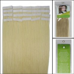 "18"" 60 Platinum Blonde Tape in Premium Remy Human Hair Extensions - 20pc"