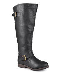 Journee Collection Women's Wide-Calf Riding Boots - Black - Size: 8WC