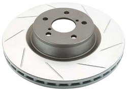 DBA DBA2446SL Slotted Front Vented Left Hand Disc Brake Rotor for Vehicles