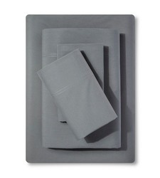 Threshold Percale Sheet Set - Grey - Size: King