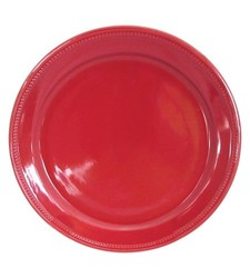 Threshold Camden Round Dinner Plate 4Set - Red