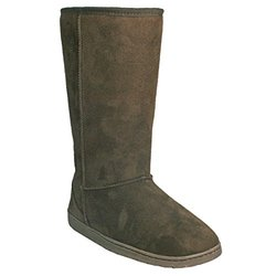 Women's 13 Inch Microfiber Boots: Chocolate - Size 11