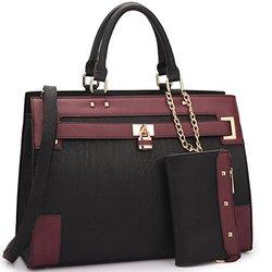 Dasein Fall Preview Collection Handbags: Black/wine