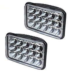 AOSI Pair 4x6 LED Headlight 15 Cree Chip Sealed Beam Replacement HID Xenon