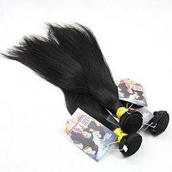 "ALI HOT Virgin Brazilian Straight Human Hair Black - Size: 16""/18""/20"""