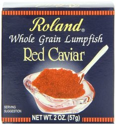 Roland Whole Grain Lumpfish Red Caviar - Pack of 4 - 2 oz.