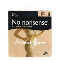 No Nonsense Mz3/Im3b Midnight Almost Bare Nylons - Black