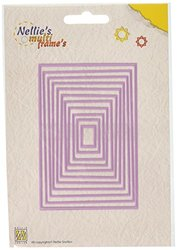 Ecstasy Crafts Nellie's Choice Multi Frame Dies-Straight Rectangle - 11PK