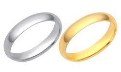 Gold 4mm Plain Band: Yellow Gold/7