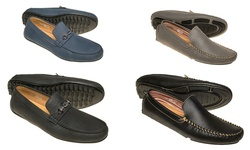 Quentin Ashford Casual Loafers: Black With Tan Stitching/11