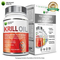 Abundant Health Pure Antarctic Krill Oil With Astaxanthin And K-real, 1,000mg Per Serving, 60 Liquid Softgels