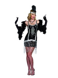 Flapper Dresses In Standard And Plus Size : Simply Fab (9836)/medium