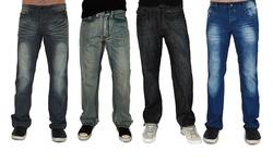 Dinamit Jeans Men's Straight-Leg Jeans - 2 Pack - Navy/grey Black - Sz: 30