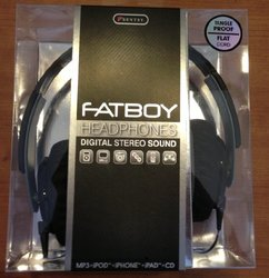 Sentry Fatboy Tangle Proof Flat Cable Headphones - Black