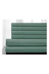 600TC Woven 6-piece Stripe Cotton Sheet Set - Seaglass - Size: King
