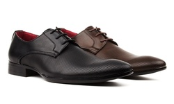Royal Men's Perforated Lace-Up Dress Shoes - Black - Size: 10