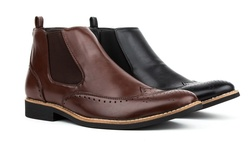 Royal Men's Brogue Wing-tip Boots: Coffee/9