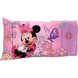 Minnie Mouse Flower Garden 2 Pcs Toddler Sheet & Pillowcase Set - Pink