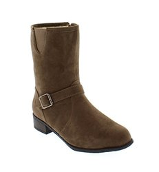 Women's Ankle High Boots: Taupe/size 8