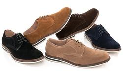 Adolfo Men's Lace-up Oxford Shoes: Black-suede/12