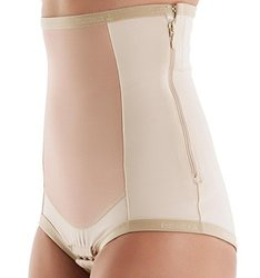 Bellefit Postpartum Girdle With Zipper, Medical-grade, Compression & Support, Beige, Large