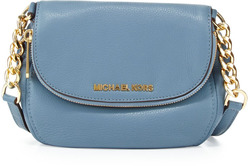 Michael Kors Bedford Leather Crossbody Bag - Blue