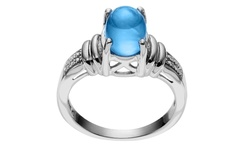 Journee Collection Sterling Silver Swiss Topaz Ring - Blue - Size: 7