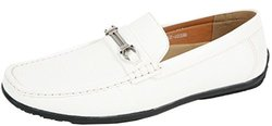 J's Awake Men's Gregg-32 Slip On Loafers -White - Size: 7.5M