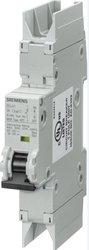 Siemens 5SJ41017HG42 Miniature Circuit Breaker, UL 489 Rated, 1 Pole Breaker, 1 Ampere Maximum, Tripping Characteristic C, DIN Rail Mounted, Type NSJ, 277 VAC, 60 VDC