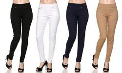 5-pocket Slimming Skinny Pants (3-pack): Black/grey/khaki - 2x/3x