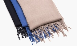 Sociology 3-Pack Boxed Gift Set Pashmina Scarves - Navy/Black/Silver