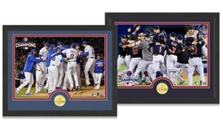Mlb Champions Photo/coin: Cleveland Indians