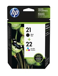 HP 21 Black & 22 Tri-color Ink Cartridges - 2-Pack (C9509FN)