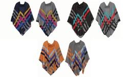 Feria Mode Women's Reversible Shawl Blanket Scarf: Kk232bk
