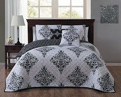 Mari 5-piece Quilt Set: King/black