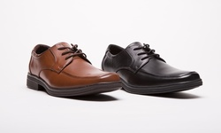 Kenneth Cole Unlisted Lay-Over Men's Lace Up Shoe: Cognac/10.5