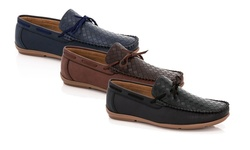 Franco Vanucci Men's Driver Shoes (medium Width): Black/13