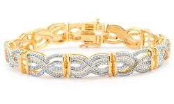14k Gold Plated 1/4 Cttw Diamond Fashion Bracelet
