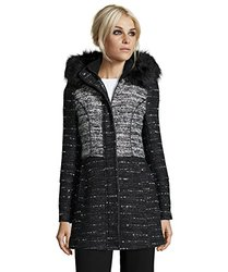 Catherine Catherine Malandrino Wool Blend Tweed Coat X-Large