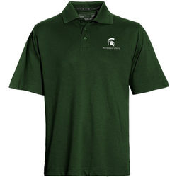 Men's NCAA Michigan State Spartans Performance Polo - Hunter - Size: L