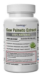 Superior Labs Saw Palmetto Extract, 300mg, 120 Vegetable Caps