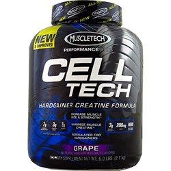 Muscletech Cell Tech Performance Series Powder, Grape, 6 Pounds ( Multi-Pack)
